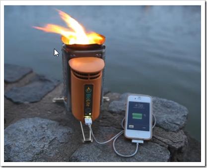 スマートフォンの充電も可能なたき火装置「BioLite(バイオライト) キャンプストーブ」