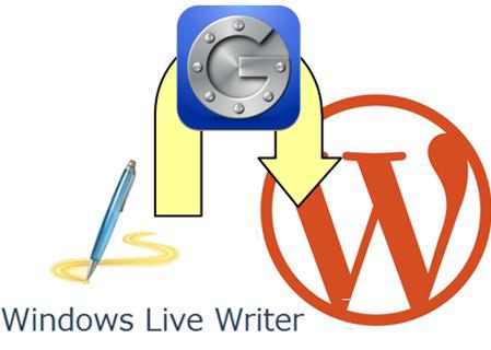 「Windows Live Writer」でGoogle2段階認証に対応させたWordPressを更新する手順