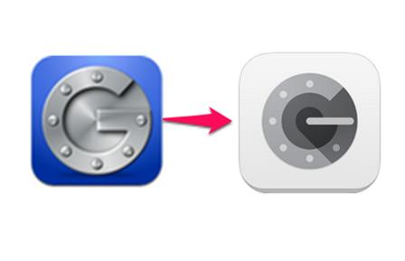 「Google Authenticator」(2.0)がアイコンが青からモノクロに