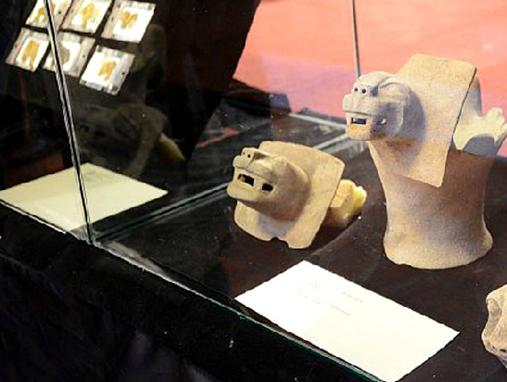 インカ帝国の代表的な神ピューマと思われる動物の陶片