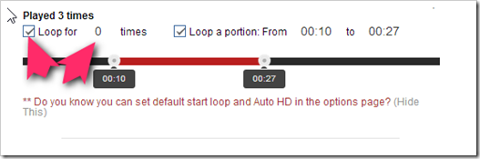 Looper for YouTube の設定ーChrome拡張
