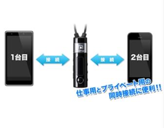スマートフォン2台持ちユーザーに嬉しいマルチポイント機能搭載のBluetoothヘッドセット