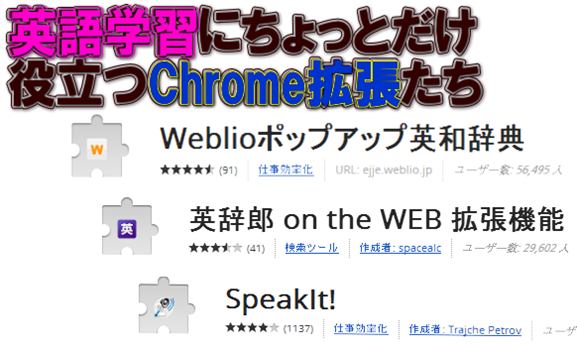 英語学習に役立つ Google Chrome 拡張
