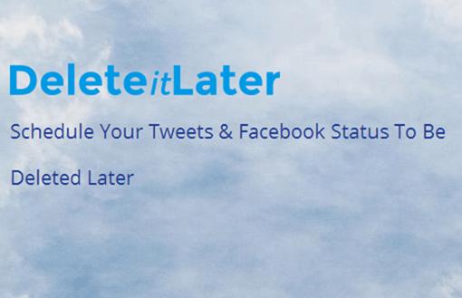 ツイートを期間限定で公開できるWebサービス Delete it Later