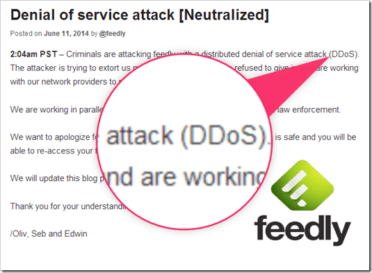 feedlyを悩ませているDDoS攻撃とは?