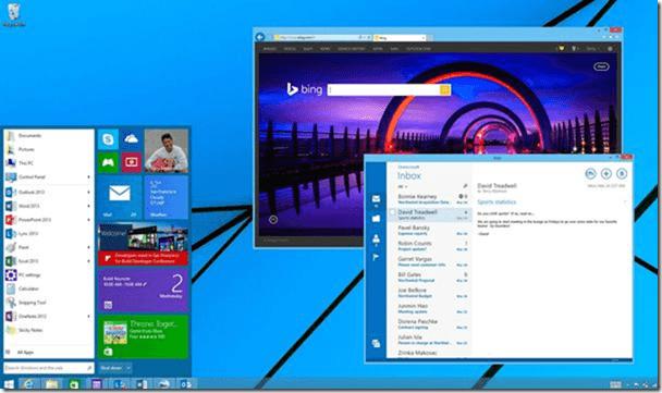 次期Windows のものとされるUI