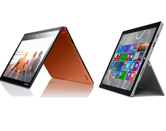レノボ「YOGA 3 Pro」と「Surface Pro 3」
