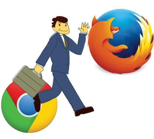 ChromeからFirefoxへ乗り換えるユーザ