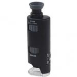 夏休み自由学習で携帯できる「ポケット顕微鏡 LEDライト付 LP-33G」親子で自然観察