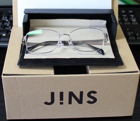 JINS(ジンズ)メガネ チタンのフレーム