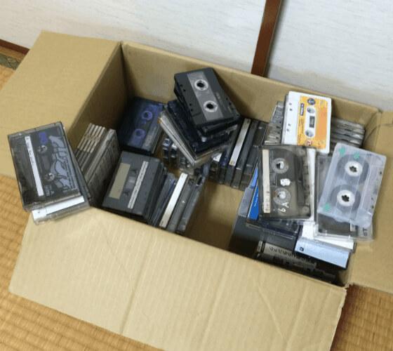 30年前のカセットテープの山