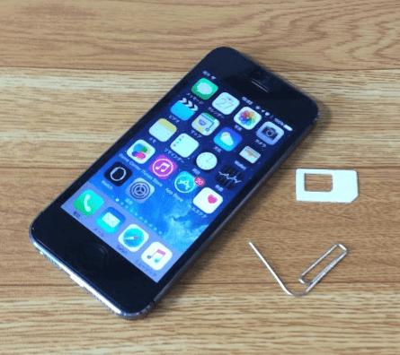 iPhone 5s からSIMカードを取り出す