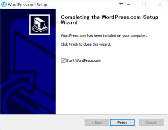 WordPress 専用 Windowsクライアントソフトをインストール完了