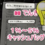 「au でんき」でどれくらい節約?我が家の電気代で試算した結果?