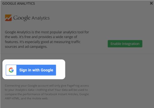 Googleアカウント認証
