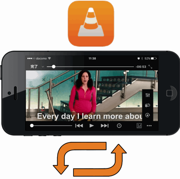 VLC for iPhone で動画を繰り返し再生する方法