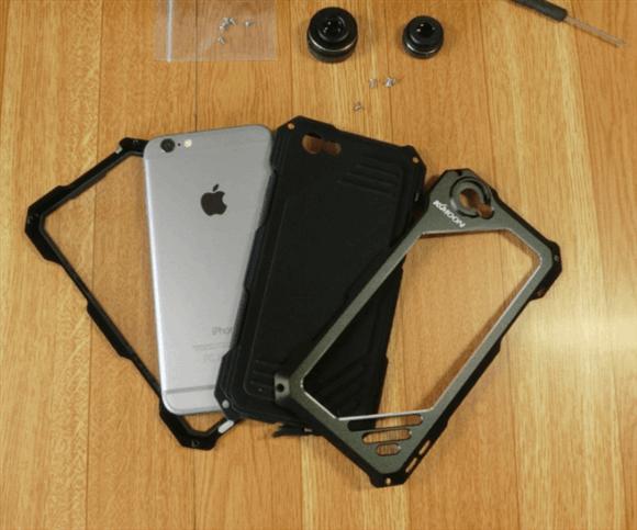 ケースにiPhone6を装着する順番。