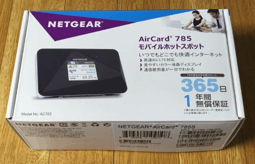 NETGEAR AirCard 785 パッケージ