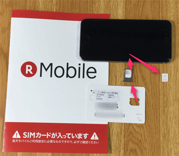 楽天モバイルからSIMが届いたらSIMカードを入れて開通手続きを終わらせよう。