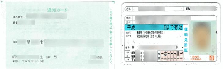 確定申告の郵送書類に同封する通知カードと本人確認書類のコピー
