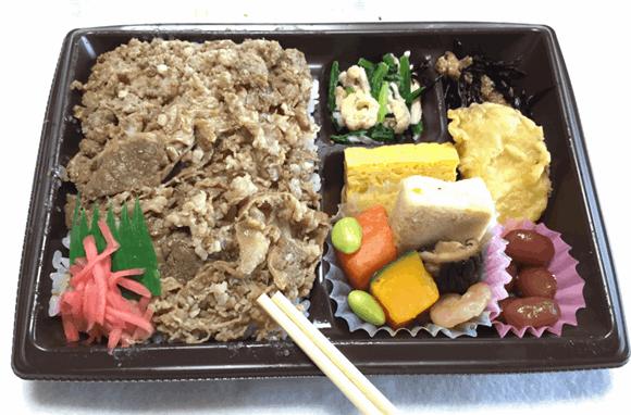 【水曜日】牛飯&牛そぼろ御膳 「贅沢御膳」セブンイレブンの宅配弁当。一番美味しかった。