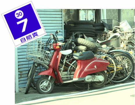 廃車予定の原付バイクの自賠責保険を5年更新。移し替える方法