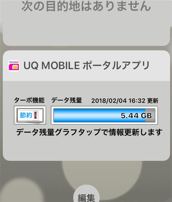 UQモバイルをiPadで利用。月末に余った高速データ量を翌月まで繰り越せますよ。