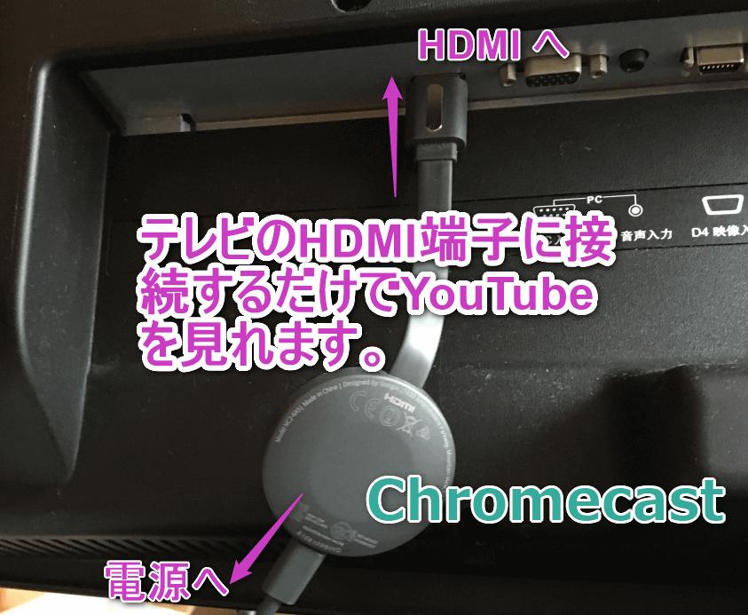 Chromecastを利用してYoutubeをテレビで見るセッティング。
