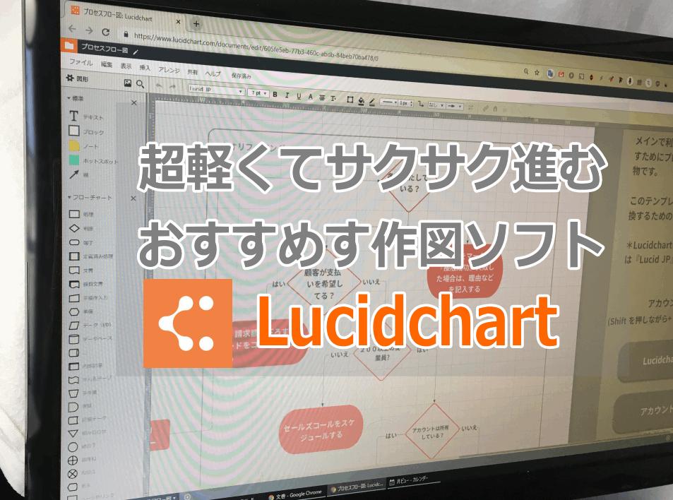 フローチャート作図なら軽いソフト「Lucidchart」がおすすめ。