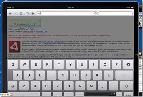 「iBBDemo2.0」でiPadをPC上でデモンストレーション