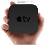 「Apple TV」(アップルテレビ)の本体は手のひらサイズ