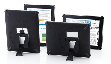 iPhoneiPad用スタンド付きケースは便利です。