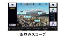 「旅ナビ」はまるで「セカイカメラ」の機能があります。