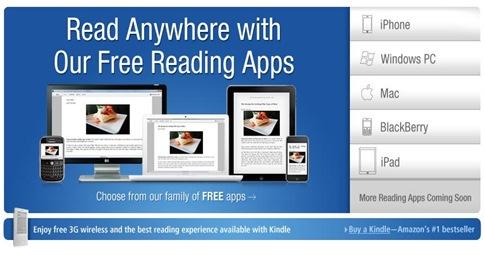 アマゾンン(Amazon.com)のキンドル(Kindle)戦略は何でもありのiPhone,WindowsPC,Mac,iPad用のアプリあり。