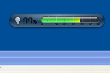 「CubeAir 電力使用状況」が起動した結果の画面
