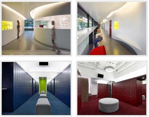 「Run Pit(ラン ピット)」のロッカー、シャワー室やトンネル