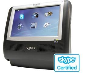 デジタルフォトフレーム付きのスカイプ・ビデオ電話を楽しめる多機能ビデオフォン「VoSKY MTV」