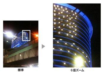 6倍光学ズームを可能にする「モバイルフォン テレスコープ」 の性能