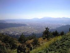 大観峰から見た阿蘇五岳と世界最大のカルデラ