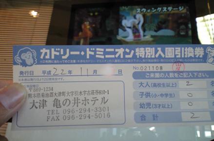 カドリードミニオンの格安(特別)入園券