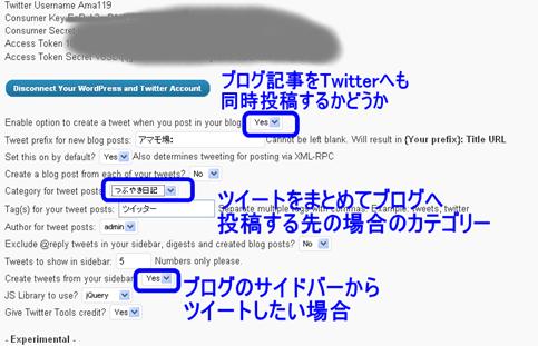 ブログ記事のタイトルとURLをTwitterへも同時投稿